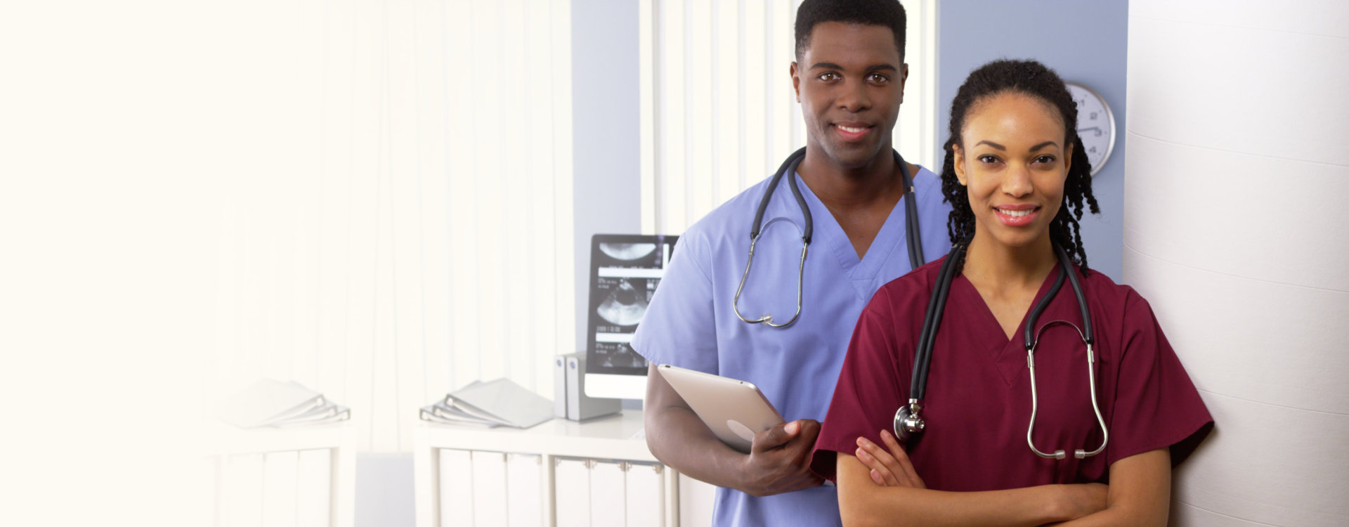 two healthcare professionals